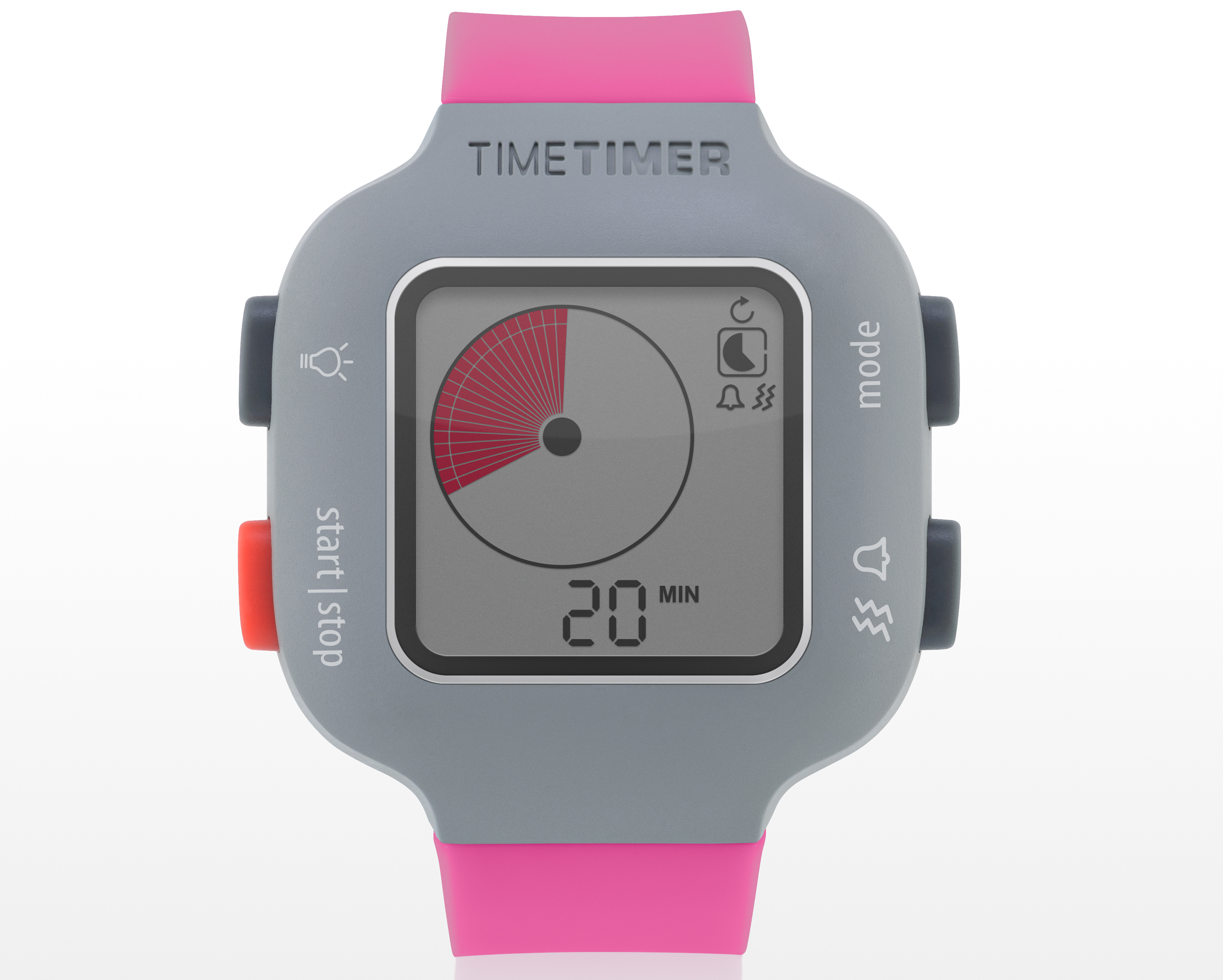 JAC5022BE - Time Timer watch Plus - youth - berry - Timer 20 min. (2)